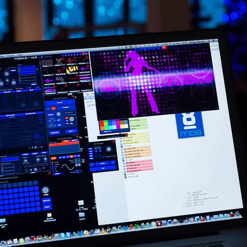 Bild von einem Monitor für die Eventsteuerung