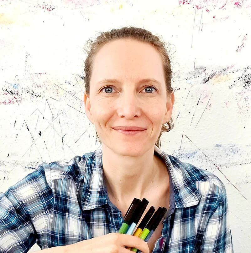 Portrait von Katrin Bauck digitales Event Intuitives Malen