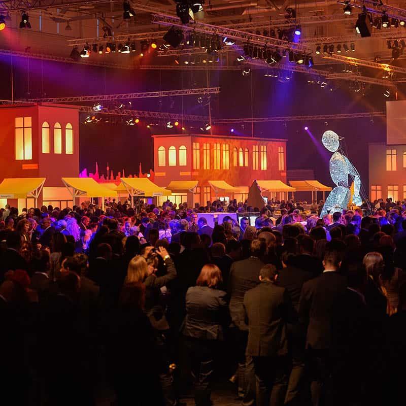 Zuschauermenge auf einem Event
