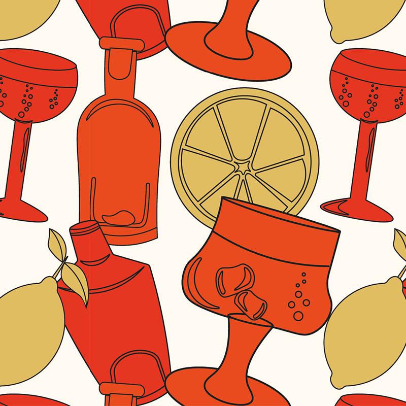 Illustration digitales Teamevent Gin Tasting