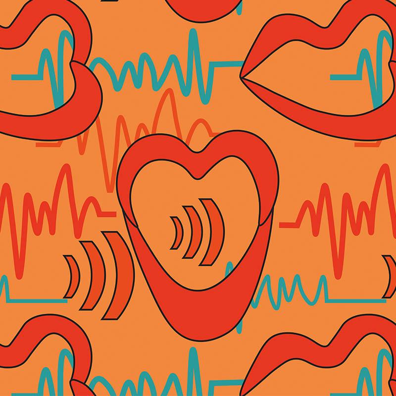 Illustration digitales Teamevent Stimme entdecken