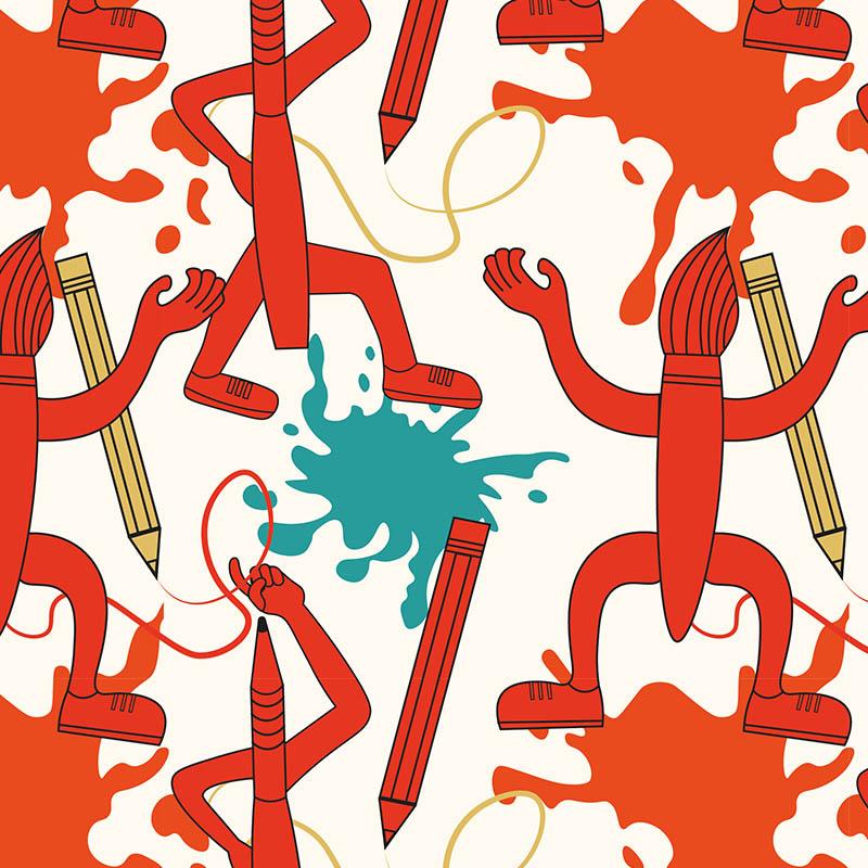 Illustration digitales Teamevent Intuitives Malen